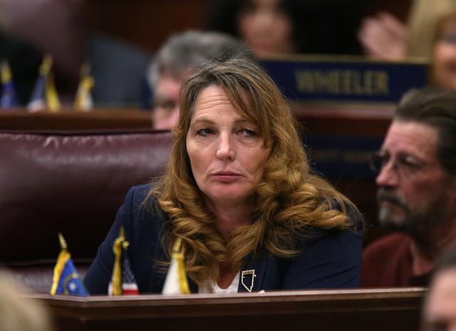 Nevada Assembly Minority Leader Marilyn Kirkpatrick, D-North Las Vegas. (Las Vegas Review-Journal/Cathleen Allison)