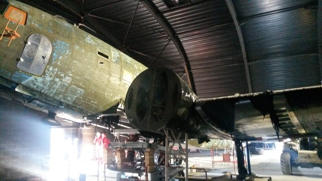 """The famous C-47 transport aircraft nicknamed the """"Stoy Hora"""" (civilian designation DC-3) is shown as it is being restored. The Stoy Hora (tail no. 292717) was the transport flown by the commander  ..."""