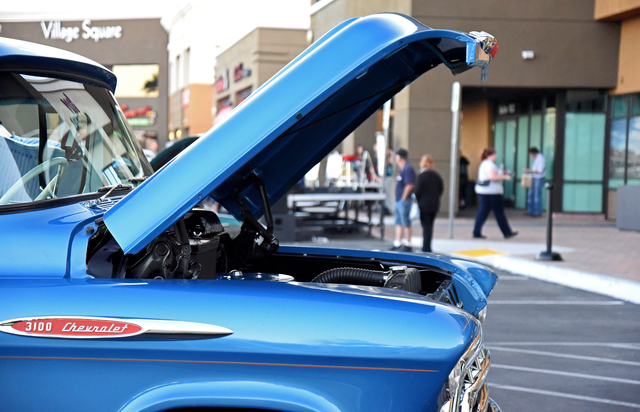 Residents enjoy a Rock 'n Roll Car Show April 16, 2015, during the first Third Thursdays event at Village Square, 9400 W. Sahara Ave. The monthly series is set to continue from 5 to 10 p.m. May 21 ...