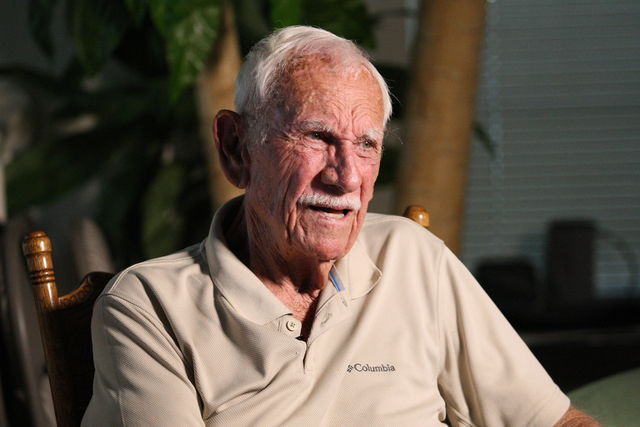 Ex-POW, Dean Whitaker recalls his time as an Army Eighth Air Force/398th Bomb Group Second lieutenant when his B-17 Flying Fortress was shot down on November 2, 1944 over Merseburg, Germany during ...