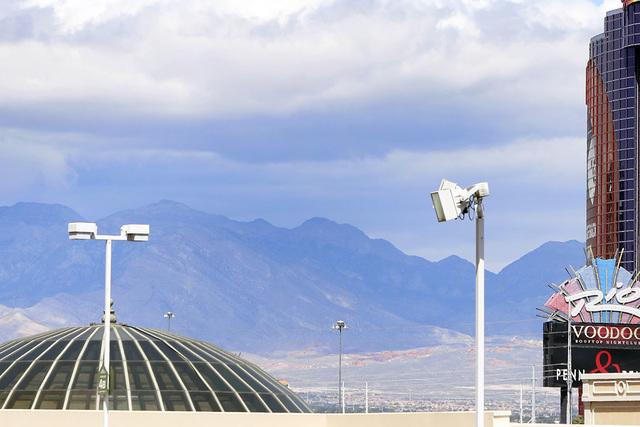 Clouds commenced to loom above the Las Vegas Valley on Friday, May 15, 2015. (Bizuayehu Tesfaye/Las Vegas Review-Journal) Follow Bizu Tesfaye on Twitter @bizutesfaye