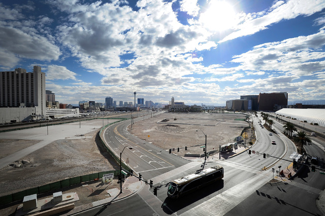 An empty lot is seen near Symphony Park in downtown Las Vegas on Monday, Feb. 3, 2014. (David Becker/Las Vegas Review-Journal)
