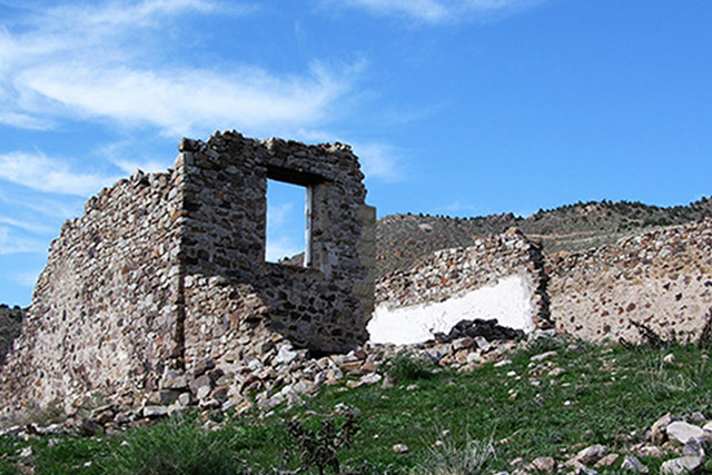The ruins of old Delamar, once one of Nevada's richest gold producers. (Courtesy/LincolnCountyNevada.com)
