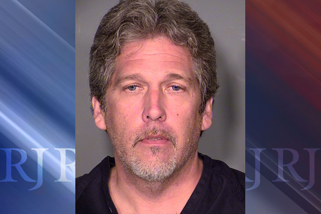 James Stapleton, 46, is being held at Clark County Detention Center on charges of first-degree murder after a May 7, 2015, shooting. (Courtesy/Las Vegas Metropolitan Police Department)
