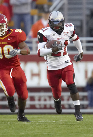 Eric Wright returning a kick in 2006 in his one season at UNLV. (Courtesy of UNLV sports information department)