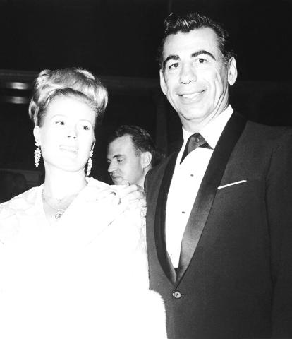 Mr. & Mrs. Kirk Kerkorian at the opening of Caesars Palace on Aug. 5, 1966. (Courtesy/Las Vegas News Bureau)