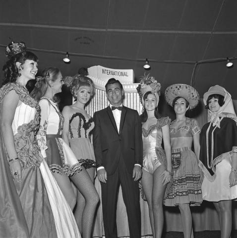 International Hotel groundbreaking with Kirk Kerkorian, Feb. 1, 1968. (Courtesy/Las Vegas News Bureau/Milt Palmer)