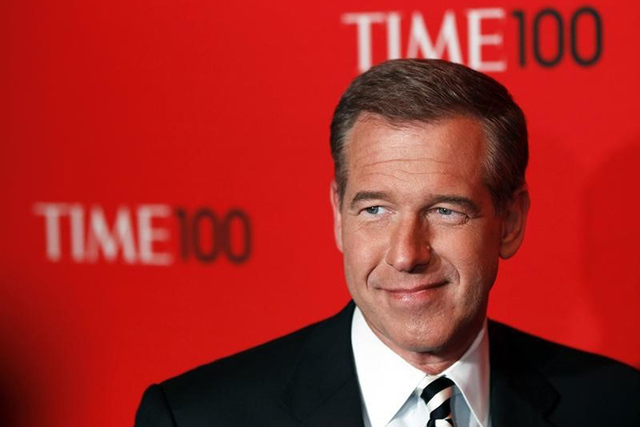 Television personality Brian Williams arrives at the Time 100 Gala in New York, April 24, 2012. (REUTERS/Lucas Jackson)