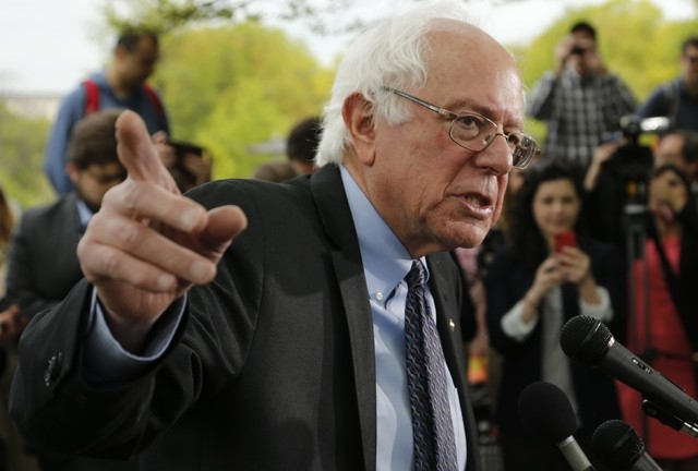 U.S. Senator Bernie Sanders, I-Vt., holds a news conference after he announced his candidacy for the 2016 Democratic presidential nomination, on Capitol Hill in Washington, April 30, 2015. (Reuter ...