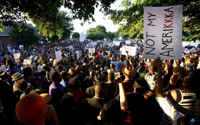 Hundreds of protestors rally against what demonstrators call police brutality in McKinney, Texas  June 8, 2015.  Hundreds marched through the Dallas-area city of McKinney on Monday calling for the ...