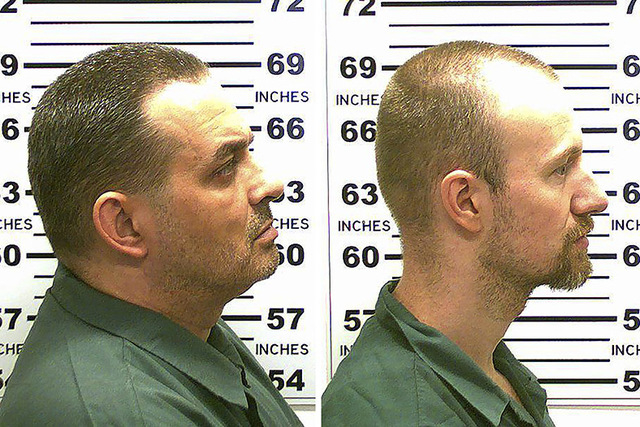 Richard Matt (L) and David Sweat, fellow inmates and both convicted murderers, escaped early Saturday from the Clinton Correctional Facility in Dannemora, New York, police said. REUTERS/New York S ...