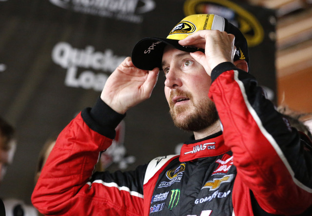 Sprint Cup Series driver Kurt Busch celebrates in victory lane after winning the Quicken Loans 400 at Michigan International Speedway on June 14, 2015. (Aaron Doster-USA TODAY Sports)