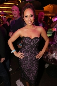 Cheryl Burke partied at Wynn club XS after judging the Miss America pageant.