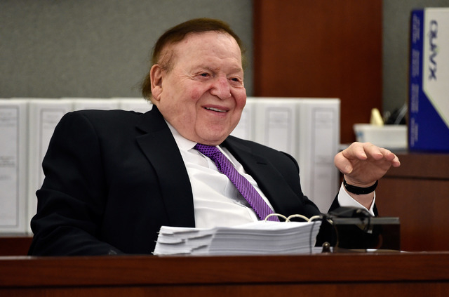 Las Vegas Sands Corp. Chairman and CEO Sheldon Adelson on Friday, May 1, 2015, in Las Vegas. (David Becker/Las Vegas Review-Journal)