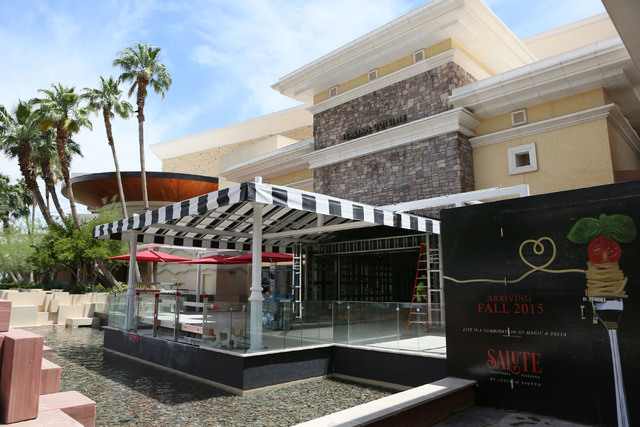 Construction for Salute takes place at Red Rock hotel-casino Wednesday, June 3, 2015, in Las Vegas. The new Italian restaurant, built by Clique Hospitality, is slated to open this fall. (Ronda Chu ...