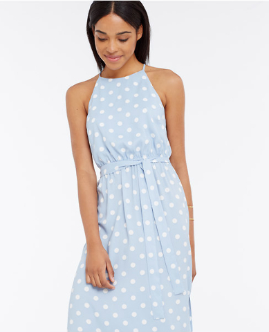 Ann Taylor polka dot maxi dress.