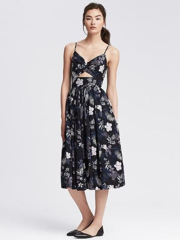 Banana Republic floral midi dress.