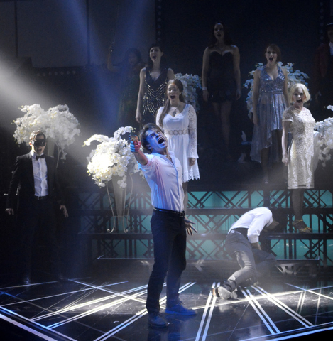 """Baz"" is a live tribute to the over-the-top Australian film director at Light nightclub in Mandalay Bay. (Bill Hughes/Las Vegas Review-Journal)"