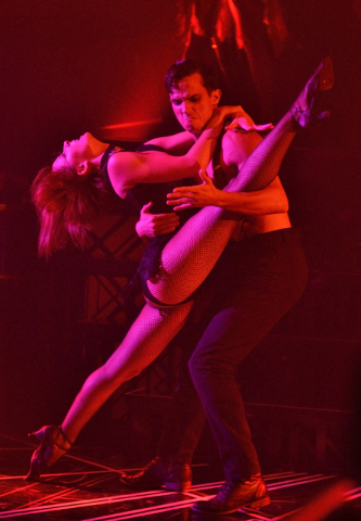 "A steamy dance from ""Baz""  at Light nightclub at Mandalay Bay. (Bill Hughes/Las Vegas Review-Journal)"