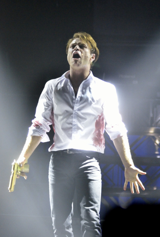"James Byous as Romeo in ""Baz"" at Light nightclub in Mandalay Bay. (Bill Hughes/Las Vegas Review-Journal)"