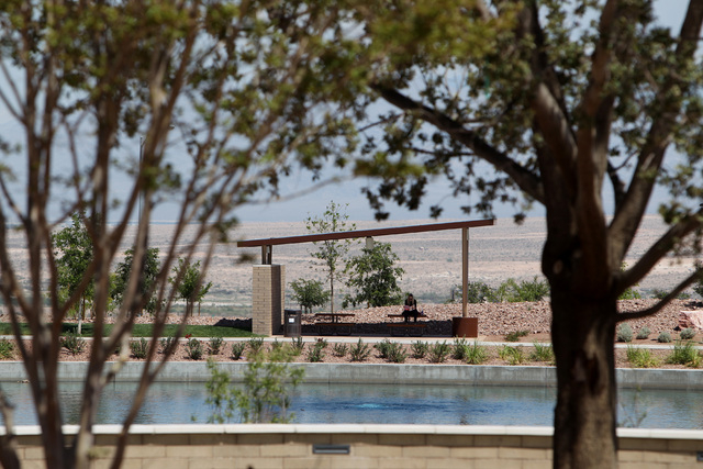 A picnic shelter is situated near a pond in the Cadence master-planned community in Henderson Tuesday, May `19, 2015. (Sam Morris/Las Vegas Review-Journal) Follow Sam Morris on Twitter @sammorrisRJ
