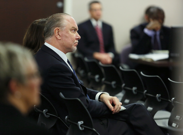 Lee Amaitis, president and CEO of Cantor Gaming, attends a Nevada Gaming Commission hearing at the Grant Sawyer Building Thursday, Jan. 23, 2014, in Las Vegas. (Ronda Churchill/Las Vegas Review-Jo ...