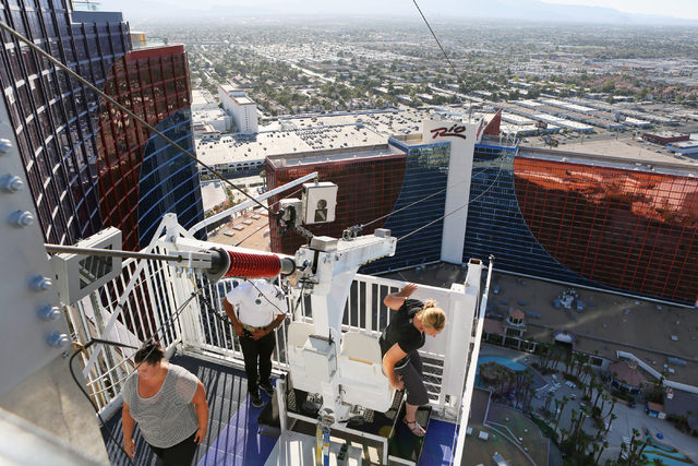 Voodoo Zip Line Celebrates A Year In Business Photos Las Vegas Review Journal