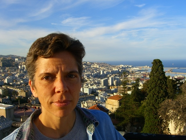 Laura Myers in Algiers, Algeria in 2006. As a management consultant with a private company she worked to improve the quality and editorial independence of local newspapers in the North African cou ...