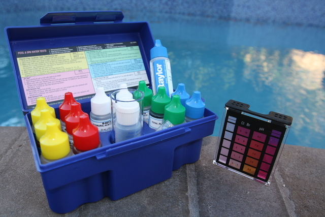 Courtesy of Paragon Pools Taylor Technologies Complete Test Kit, available at pool stores and online, provides a thorough water evaluation with the following tests: free and total chlorine (which  ...