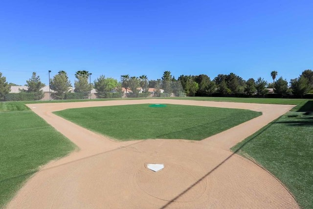 Courtesy photo  The $25 million Spring Valley home also has its own baseball diamond with regulation-sized infield.