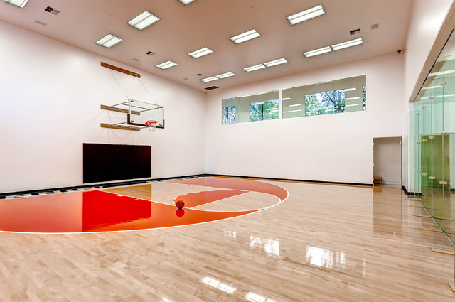 Courtesy photo  This $9.9 million property in Queensridge features an indoor half-basketball court