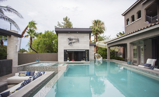 Las vegas luxury homes not complete without elaborate for Pool design tv show