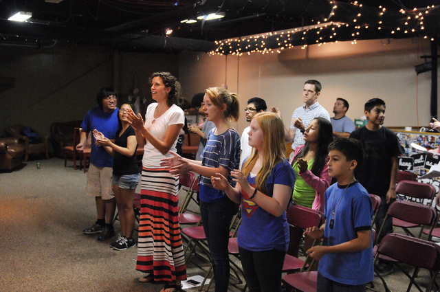 Children sing along during a youth band music session at Community Lutheran Church in Las Vegas Thursday, May 8, 2014. (Erik Verduzco/Las Vegas Review-Journal)