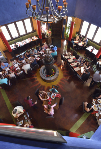 Diners check out the menu at Sonrisa Grill in Montelago Village at Lake Las Vegas in Henderson. (Bill Hughes/Las Vegas Review-Journal)