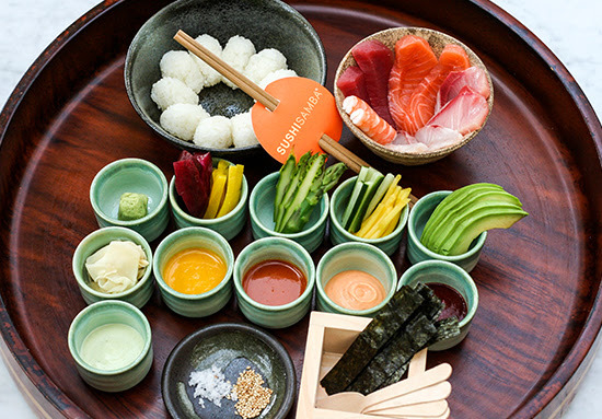 Do-it-yourself sushi at Sushisamba. (Courtesy photo)