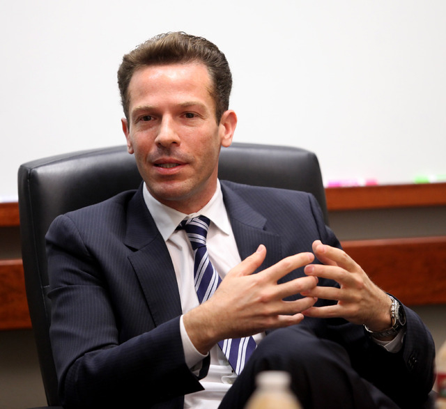 Downtown Grand CEO Seth Schorr is giving up day-to-day operational duties and taking on the new title as chairman. (Jessica Ebelhar/Las Vegas Review-Journal)