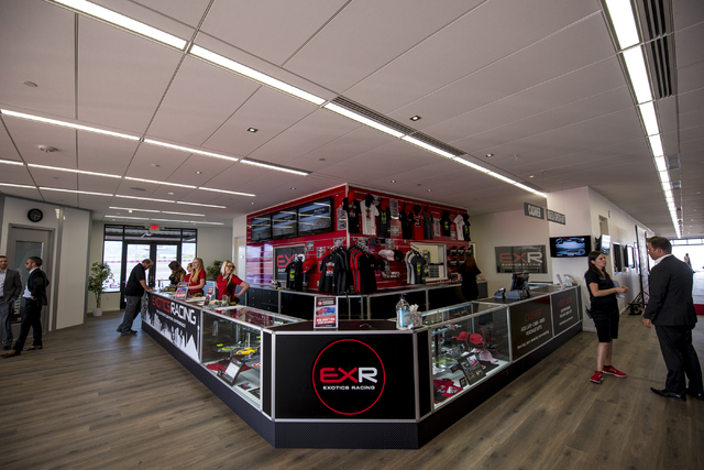 Exotics Racing recently opened a new 14,000 square-foot welcome center near Las Vegas Motor Speedway in Las Vegas. The grand opening ceremony was held on Thursday, June 4, 2015. (Joshua Dahl/Las V ...