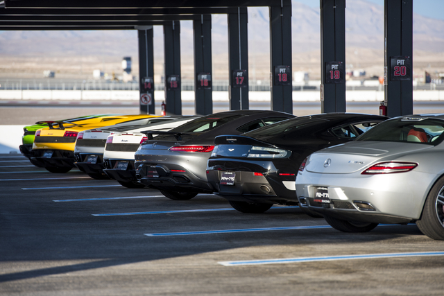 Exotics Racing has over 50 luxury sports cars that were on display during the grand opening of their new welcome center at Las Vegas Motor Speedway in Las Vegas on Thursday, June 4, 2015. (Joshua  ...