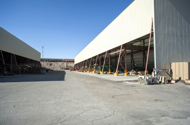 View of a section of Goodfellow Crushers, which will lose land if Henderson annexes some four square miles in the Eldorado Valley near Railroad Pass hotel-casino. The city would develop the land.  ...