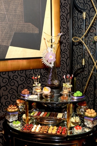 Dessert display at Joel Robuchon.  (Courtesy, Bryan Steffy)