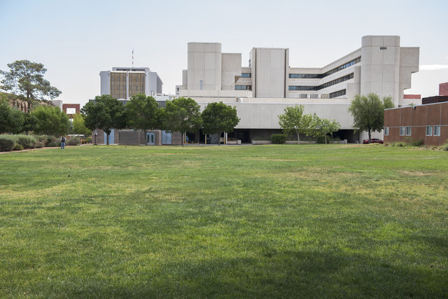 The site of the planned Hospitality Hall college building is seen at the UNLV campus in Las Vegas on Wednesday, June 10, 2015. Ground breaking for construction is expected to start in the fall. (M ...