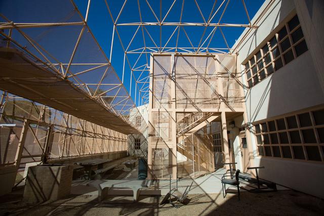 An outdoor space at Stein Hospital on Jan. 23, 2015. (Samantha Clemens-Kerbs/Las Vegas Review-Journal)