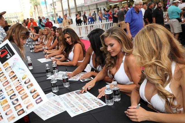 Las Vegas International Model Search contestants last week at the D Las Vegas. (Courtesy/Bryan Steffy)