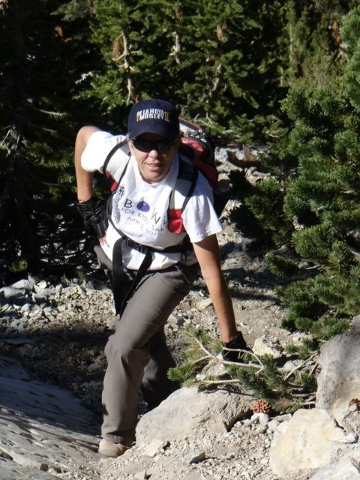 photos of laura myers hiking from facebook