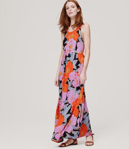 LOFT floral maxi dress.