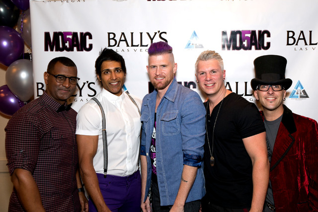 Only a week after these opening festivities, vocal quintet Mo5aic has closed its show at Bally's. (Courtesy)