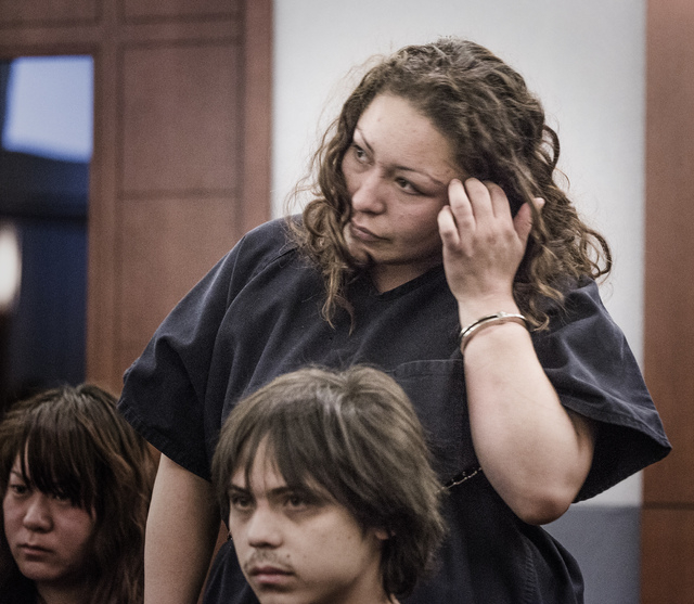 Shavon Carrillo makes her initial appearance at the Regional Justice Center on Thursday, May 29,2014. (Jeff Scheid/Las Vegas Review-Journal)