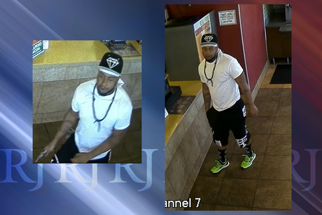 Police are asking for the public's help in finding a man involved in the May 31 robbery of a North Las Vegas business, the department wrote in a release Tuesday. (Courtesy North Las Vegas Police ...