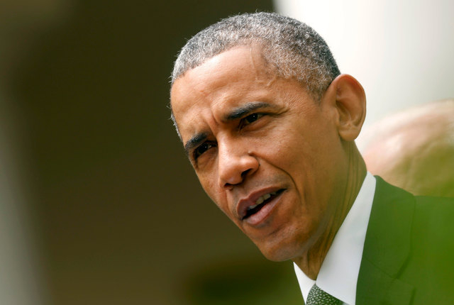 President Barack Obama delivers remarks after the Supreme Court ruled 6-3 to uphold the nationwide availability of tax subsidies that are crucial to the implementation of the Affordable Care Act,  ...