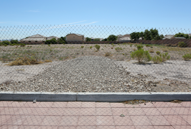 The future site of Sean's Park is shown at Opportunity Village Ralph and Betty Engelstad Campus Wednesday, June 17, 2015, in Las Vegas. Sean's Park is a proposed life-learning park for children an ...